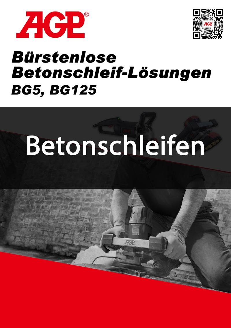 AGP Betonschleifer Broschüre